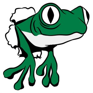 Frosch Loch witzig